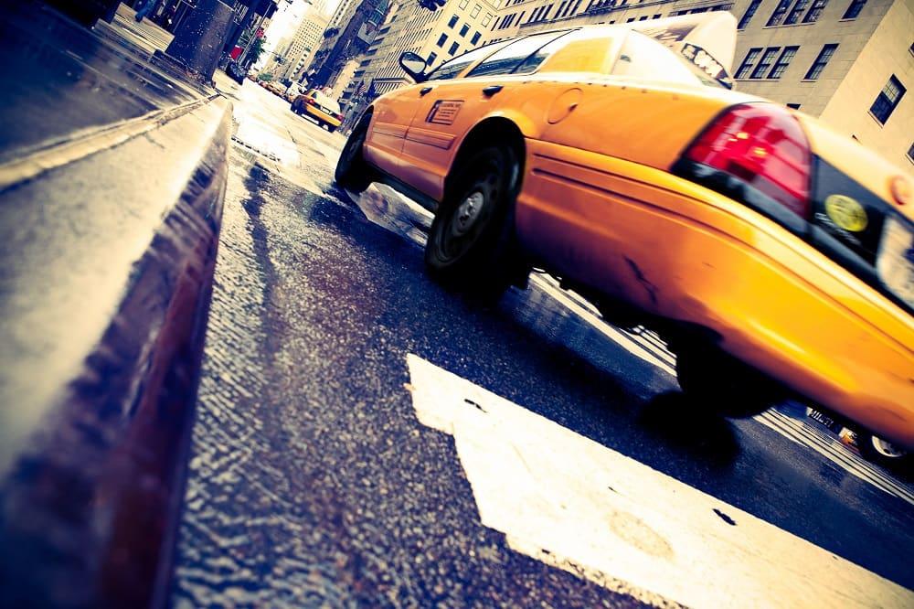 Kolizja z udziałem taksówki